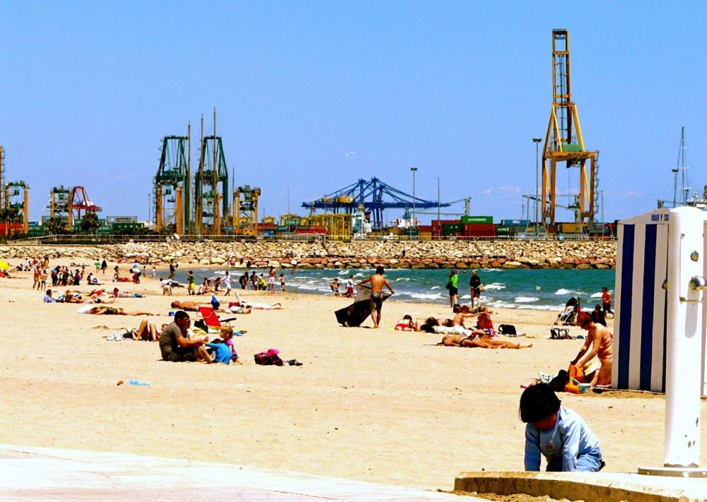 Пляж Пинедо (Playa de Pinedo)