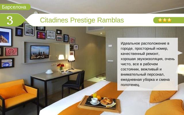 Отель Citadines Prestige Ramblas