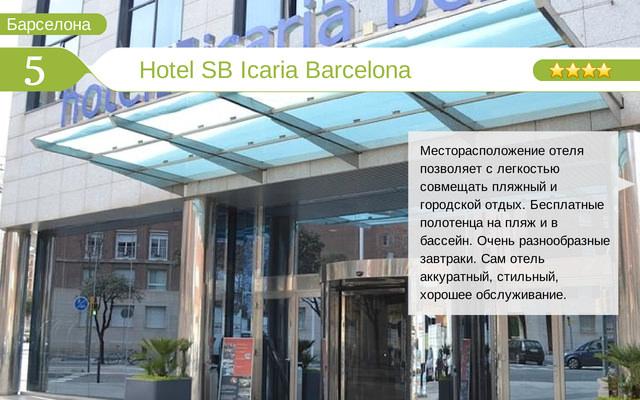 Отель Hotel SB Icaria Barcelona