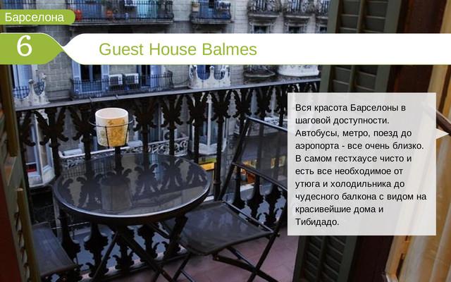 Отель Guest House Balmes