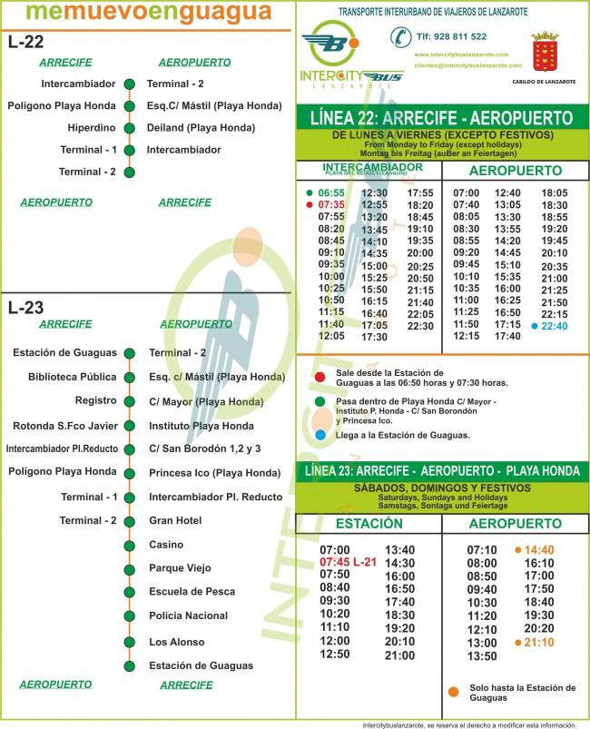 Расписание Автобуса №22 Arrecife ↔ Airport
