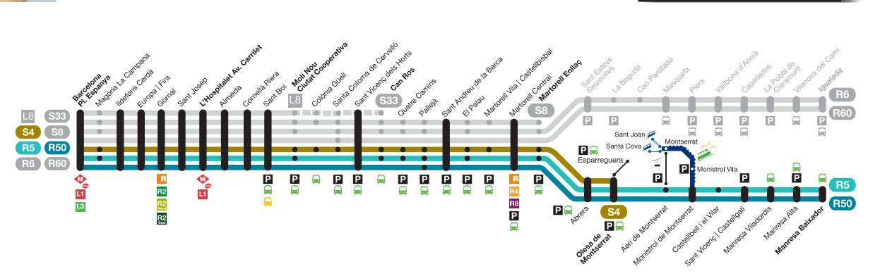 Схема проезда до Монтсеррата