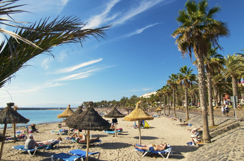 Пляж Playa del Camison на курорте Плайя-де-лас-Америкас