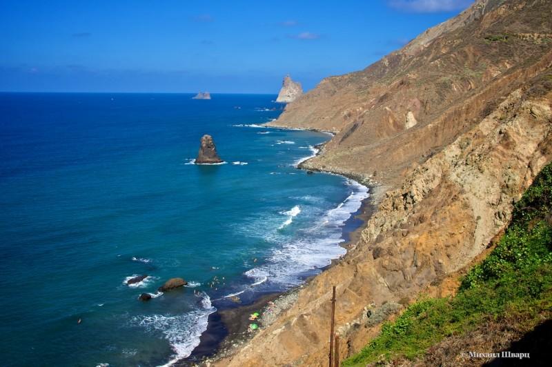 Вид на пляж Benijo