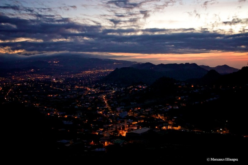 Вечерняя панорама города Ла Лагуна