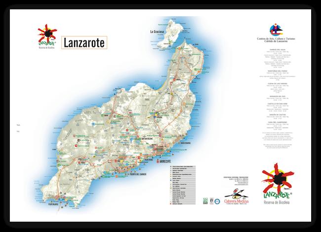 Карта Лансароте