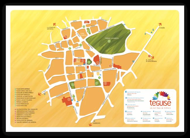 Карта Лансароте Callejero Teguise