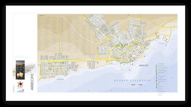Карта Лансароте Arrecife
