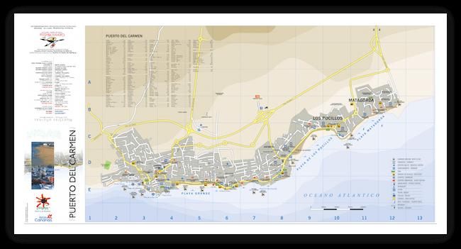 Карта Лансароте Puerto-del-Carmen