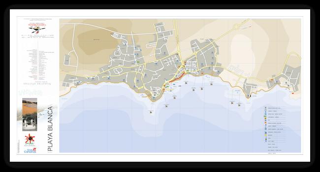 Карта Лансароте Playa-Blanca
