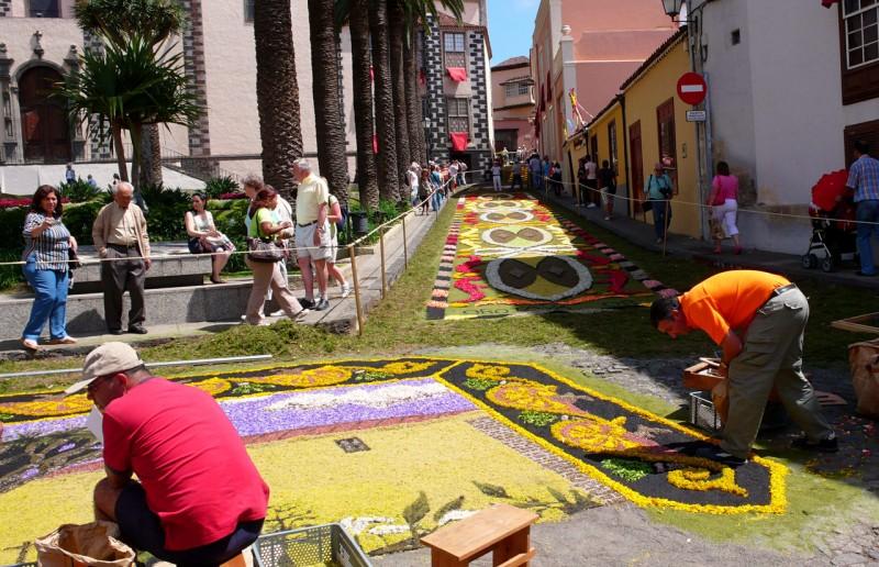 Цветочные ковры в Ла Оротаве