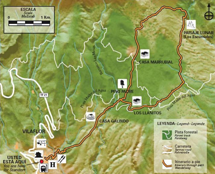 Карта местности на информационном стенде