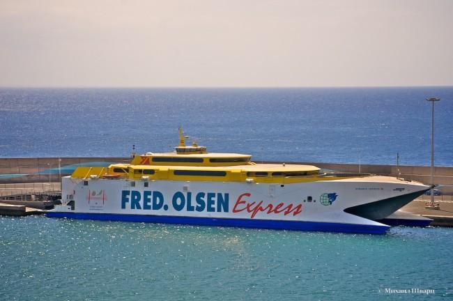 Паром Fred Olsen Express на Фуэртевентуре
