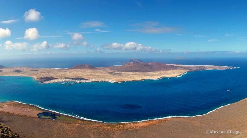 Панорама острова Ла Грасиоса