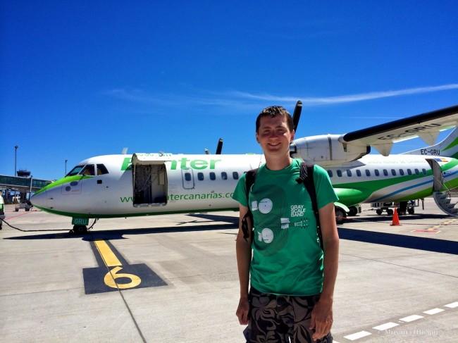 Турбовинтовой самолет ATR 42 авиакомпании Binter