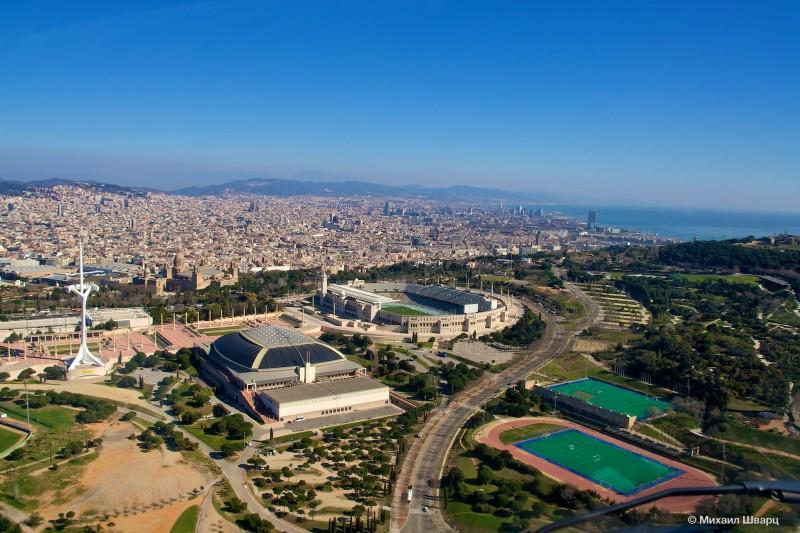 Барселона и гора Монжуик
