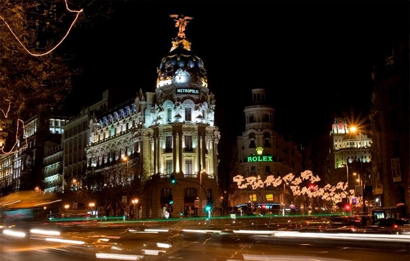 Пересечение улиц Alcalá и Gran Vía