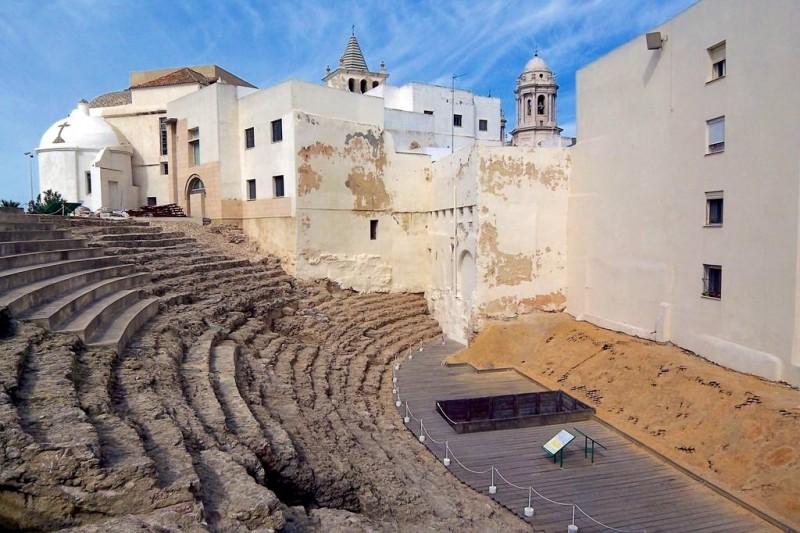 Римский театр в Кадисе, вид на трибуны