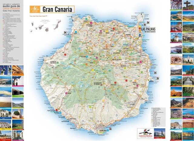 Карта Гран-Канарии