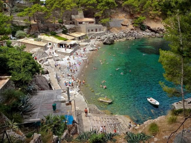 Галечный пляж Sa Calobra