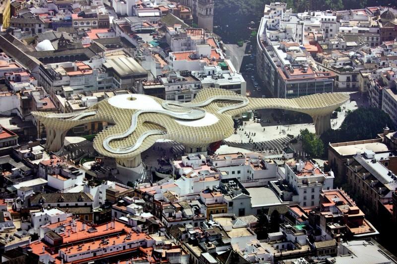 Вид сверху на Metropol Paraso