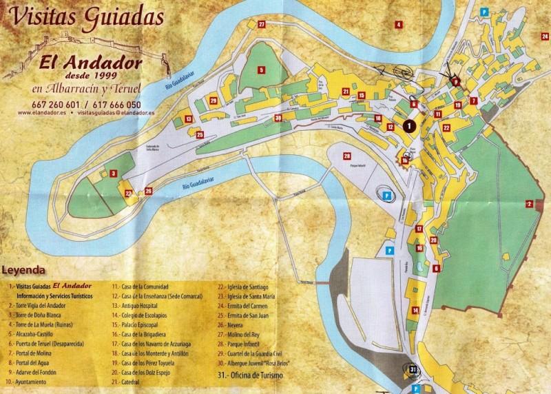 Карта достопримечательностей Альбаррасин