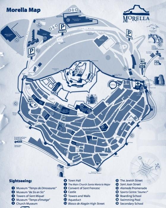 Карта крепости Морелья