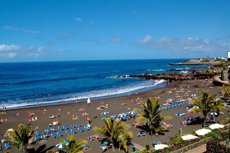 Пляж Jardín в Пуэрто-де-ла-Крус
