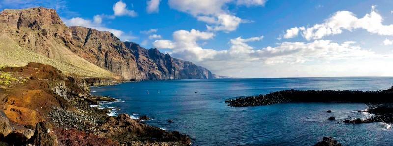 Скалистые берега острова Tenerife