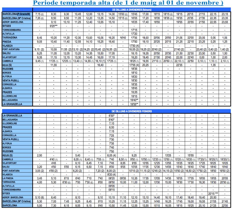 Расписание автобусов Plana с 01 мая по 01 ноября