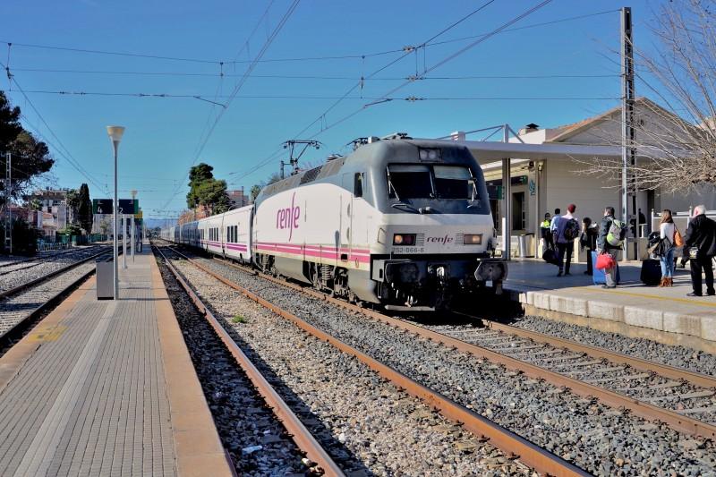Поезд на станции Salou