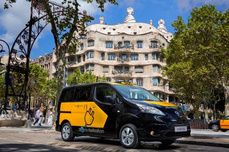 Машина такси в Барселоне