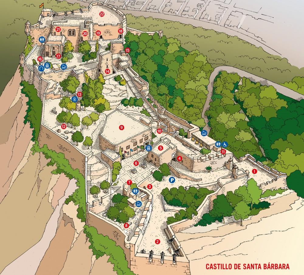 План замка Санта-Барбара