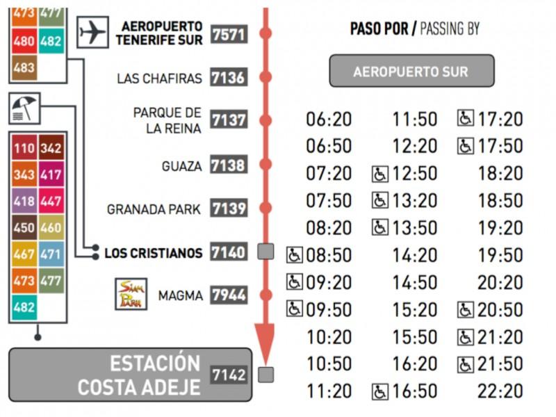 Расписание и маршрут автобуса 111 из южного аэропорта