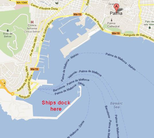 Карта порта Пальма-де-Майорка