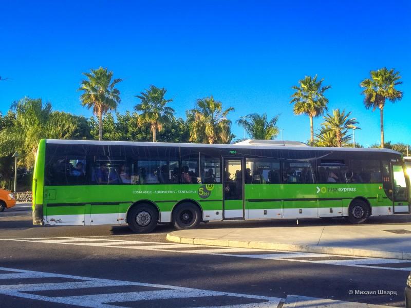 Автобус до Санта Круз де Тенерифе