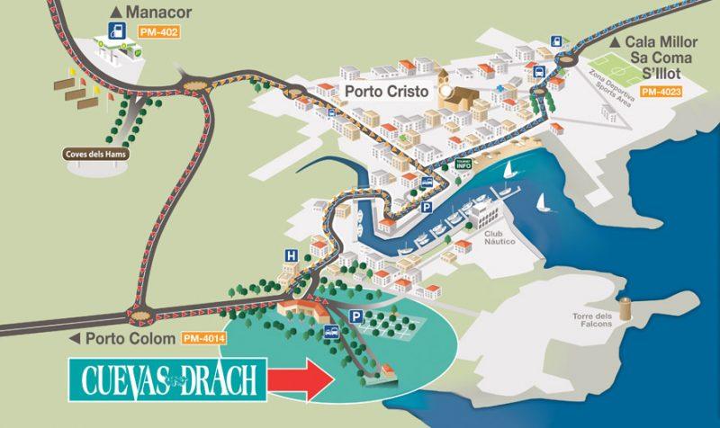 Карта Porto Cristo