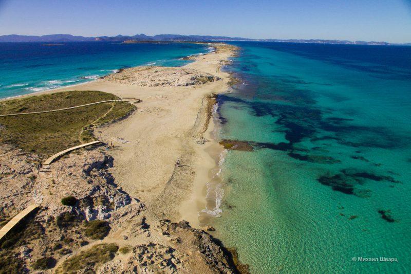 пляж Сес Ильетас (Playa de ses Illetes)