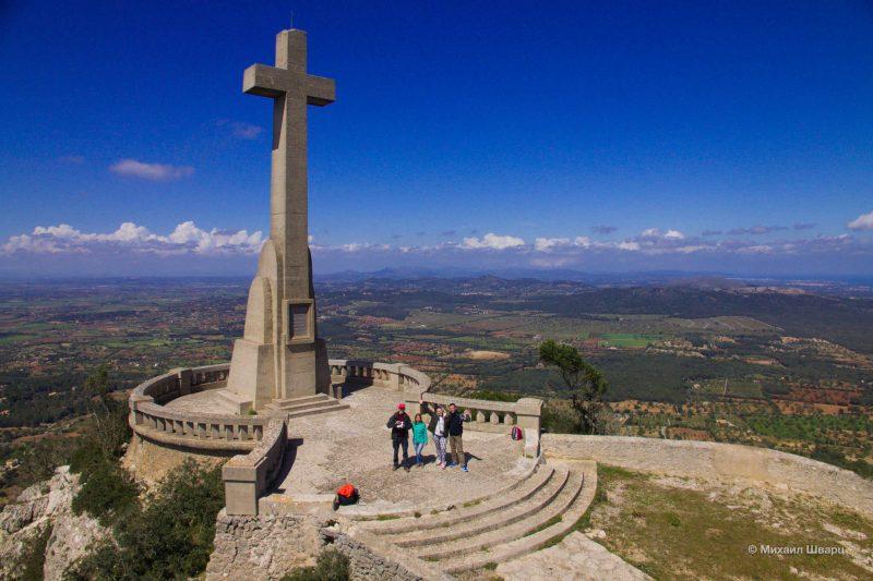 Аэросэлфи на горе Sant Salvador