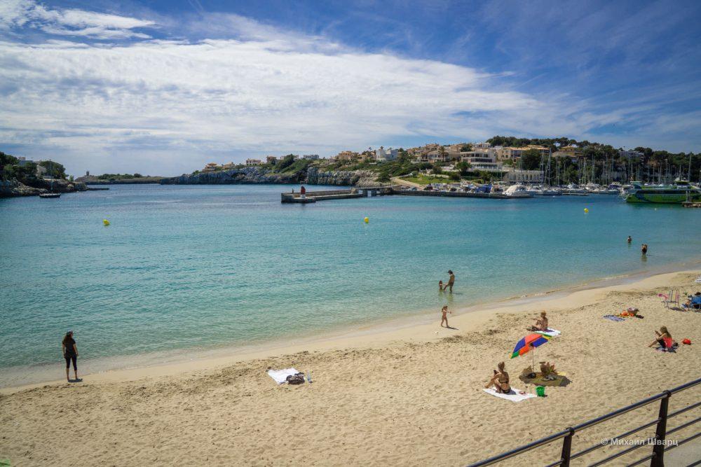 Пляж в Porto Cristo