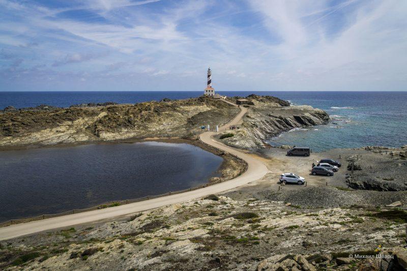 Суровый маяк Faro de Faváritx