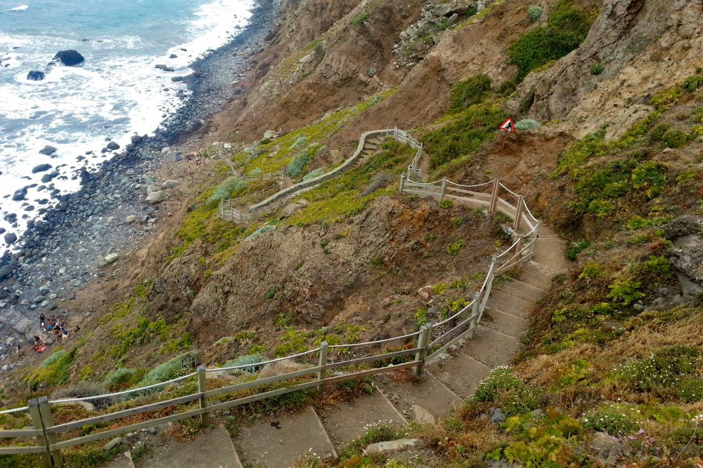 Лестница к пляжу Бенихо (фото: Henryk)