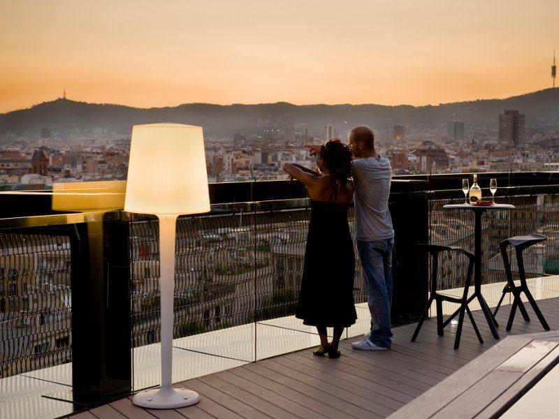 Смотровая на крыше Barceló Raval Hotel