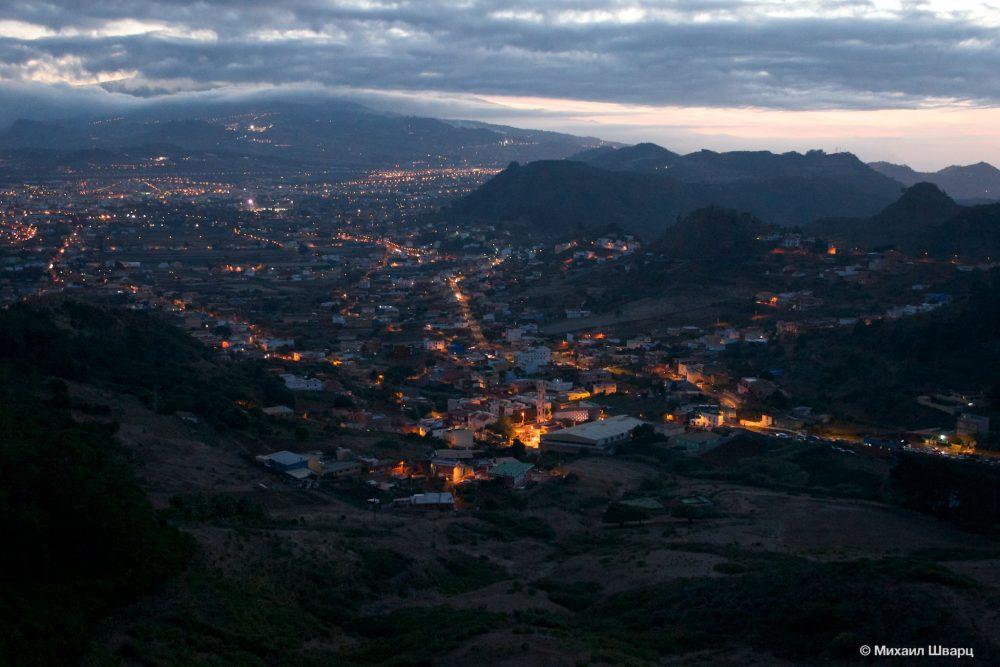 Вечерние огни Ла Лагуны