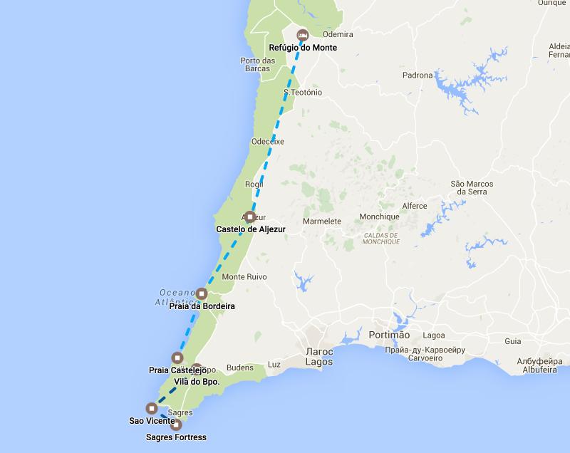 Автомобильный маршрут по Португалии