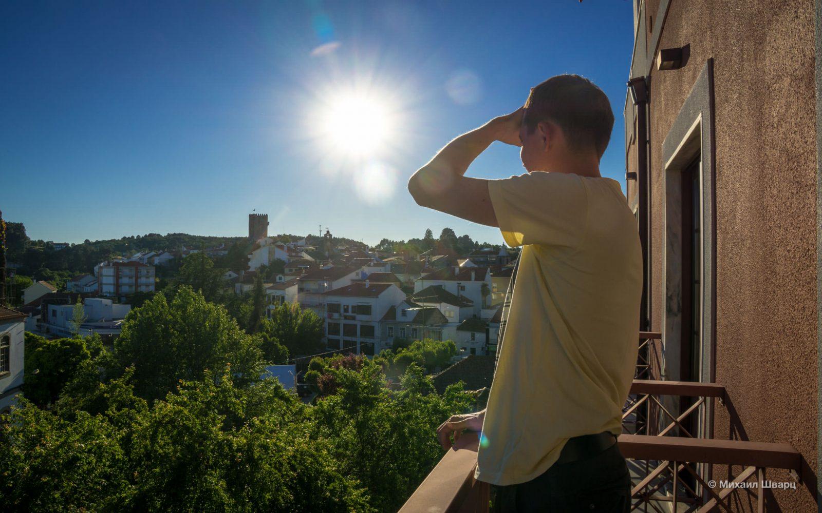 Вид на крепость Sabugal