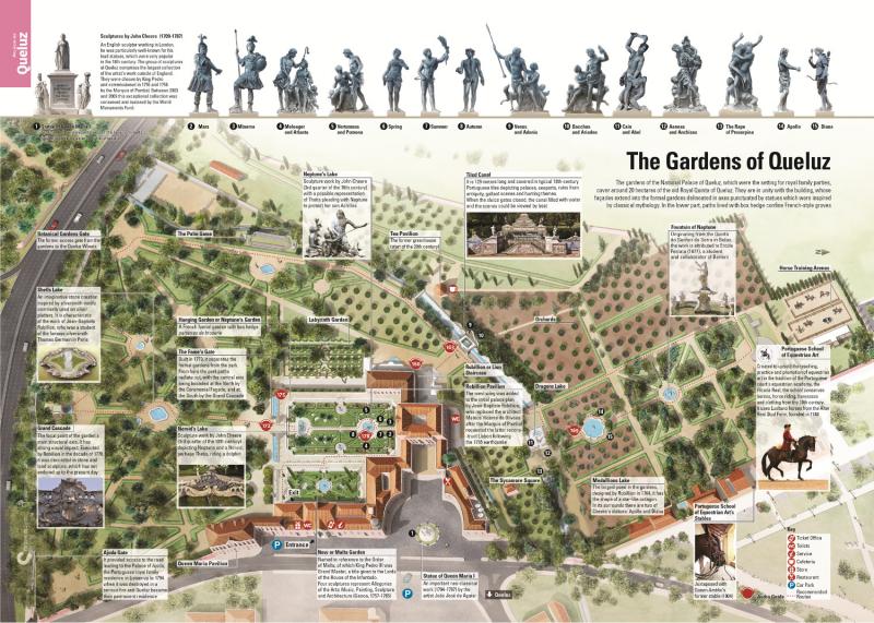 План парка Queluz