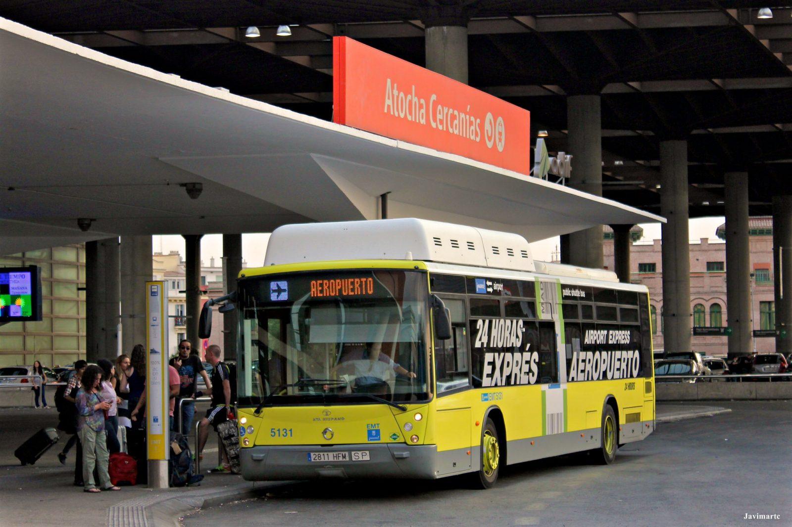 Автобус Exprés Aeropuerto: днем линия – 203, ночью – N27