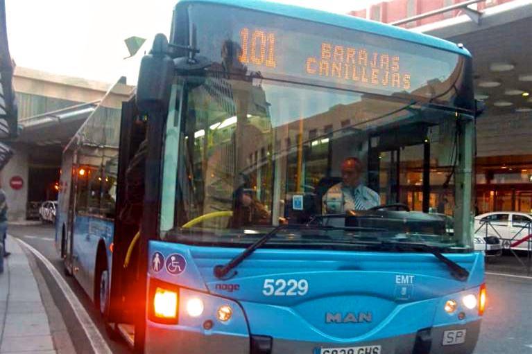 Автобусная линия 101 EMT Madrid