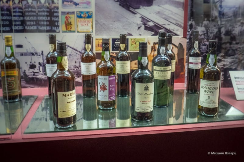 Различные виды вина Мадейра
